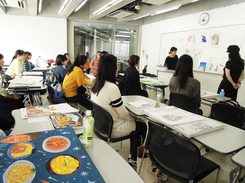 東京デザイン専門学校 夜間社会人イラスト講評会